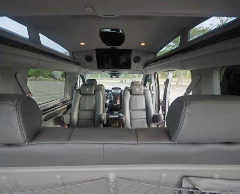 Leather van interior in luxury van