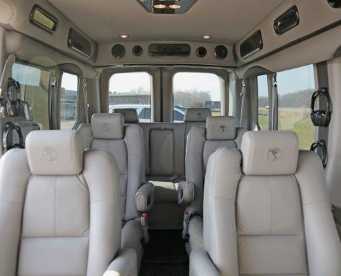 Luxury interior in open road luxury vans in Canada